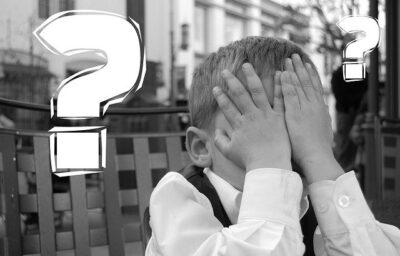 疑問を持つ子供